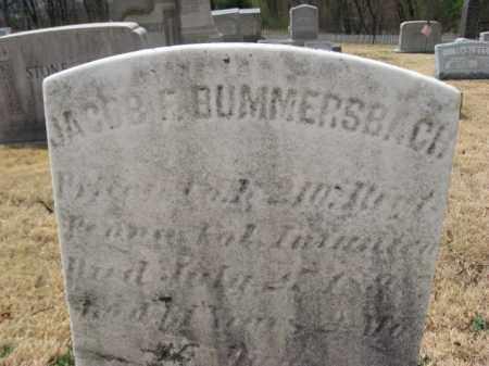 BUMMERSBACH (CW), JACOB F. - Schuylkill County, Pennsylvania | JACOB F. BUMMERSBACH (CW) - Pennsylvania Gravestone Photos