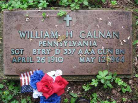 CALNAN (WW II), SGT.WILLIAM H. - Schuylkill County, Pennsylvania | SGT.WILLIAM H. CALNAN (WW II) - Pennsylvania Gravestone Photos