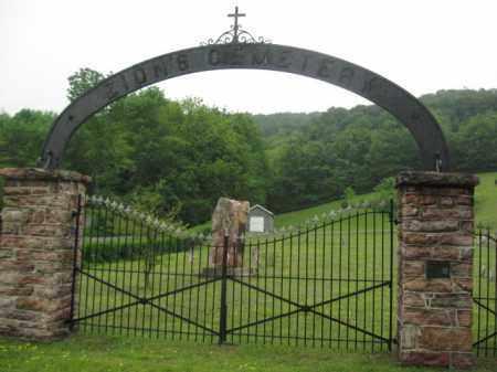 CEMETERY ENTRANCE, ZION'S - Schuylkill County, Pennsylvania | ZION'S CEMETERY ENTRANCE - Pennsylvania Gravestone Photos