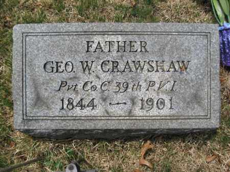 CRAWSHAW (CW), PVT.GEORGE W. - Schuylkill County, Pennsylvania   PVT.GEORGE W. CRAWSHAW (CW) - Pennsylvania Gravestone Photos