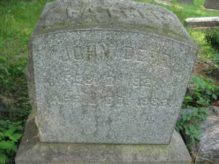 DEER, JOHN - Schuylkill County, Pennsylvania | JOHN DEER - Pennsylvania Gravestone Photos