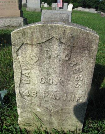 DRESS (CW), DAVID - Schuylkill County, Pennsylvania | DAVID DRESS (CW) - Pennsylvania Gravestone Photos