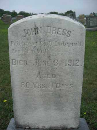 DRESS (CW), JOHN - Schuylkill County, Pennsylvania | JOHN DRESS (CW) - Pennsylvania Gravestone Photos