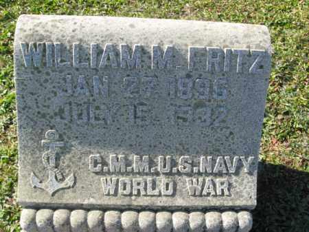 FRITZ ( WW I), WILLIAM M. - Schuylkill County, Pennsylvania | WILLIAM M. FRITZ ( WW I) - Pennsylvania Gravestone Photos