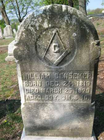 GENSEMER, WILLIAM - Schuylkill County, Pennsylvania   WILLIAM GENSEMER - Pennsylvania Gravestone Photos