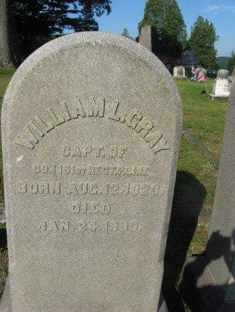 GRAY (CW), WILLIAM L. - Schuylkill County, Pennsylvania | WILLIAM L. GRAY (CW) - Pennsylvania Gravestone Photos