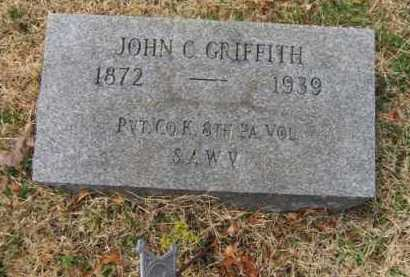 GRIFFITH (SAW), JOHN C. - Schuylkill County, Pennsylvania | JOHN C. GRIFFITH (SAW) - Pennsylvania Gravestone Photos