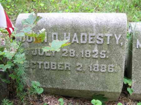 HADESTY, JOHN D. - Schuylkill County, Pennsylvania | JOHN D. HADESTY - Pennsylvania Gravestone Photos