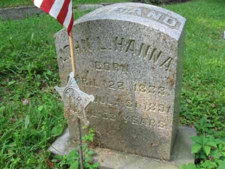 HANNA (CW), JOHN L. - Schuylkill County, Pennsylvania | JOHN L. HANNA (CW) - Pennsylvania Gravestone Photos