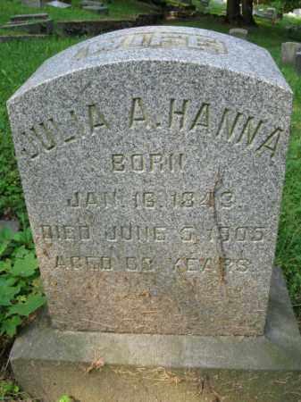 HANNA, JULIA A. - Schuylkill County, Pennsylvania   JULIA A. HANNA - Pennsylvania Gravestone Photos