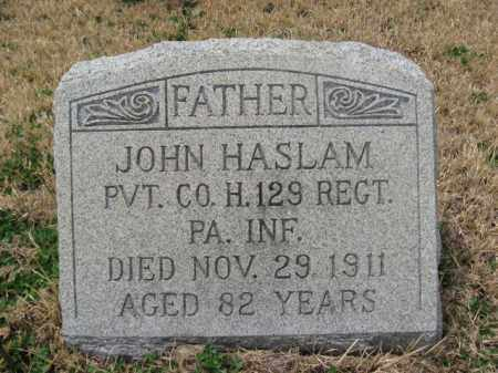 HASLAM  (CW), JOHN - Schuylkill County, Pennsylvania   JOHN HASLAM  (CW) - Pennsylvania Gravestone Photos