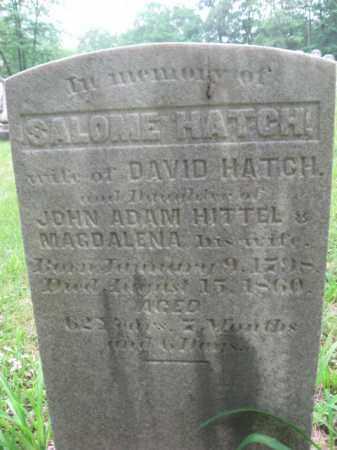 HATCH, SALOME - Schuylkill County, Pennsylvania | SALOME HATCH - Pennsylvania Gravestone Photos