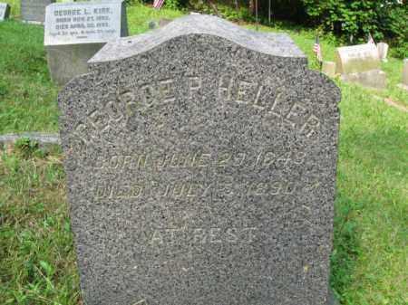 HELLER, GEORGE P. - Schuylkill County, Pennsylvania | GEORGE P. HELLER - Pennsylvania Gravestone Photos