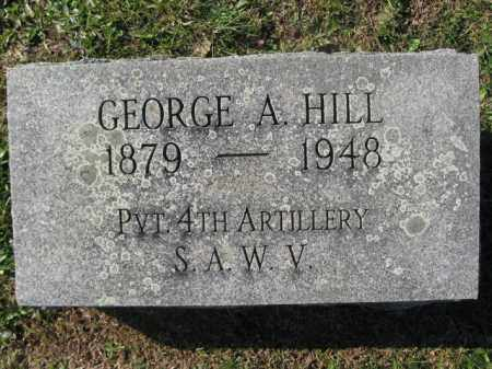 HILL (SAW), GEORGE A. - Schuylkill County, Pennsylvania | GEORGE A. HILL (SAW) - Pennsylvania Gravestone Photos