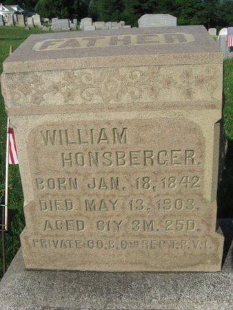 HONSBERGER (CW), WILLIAM - Schuylkill County, Pennsylvania | WILLIAM HONSBERGER (CW) - Pennsylvania Gravestone Photos