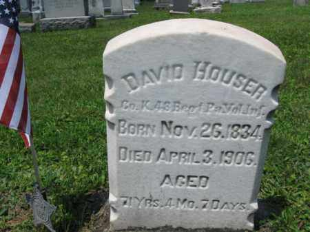 HOUSER (CW), DAVID - Schuylkill County, Pennsylvania | DAVID HOUSER (CW) - Pennsylvania Gravestone Photos