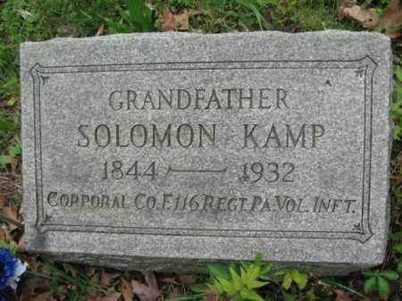 KAMP (CW), CORP.SOLOMON - Schuylkill County, Pennsylvania   CORP.SOLOMON KAMP (CW) - Pennsylvania Gravestone Photos