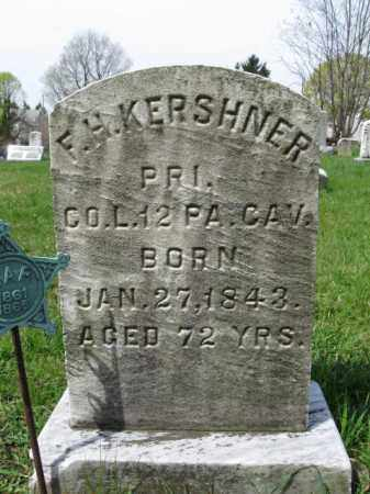 KERSHNER  (CW), FRANKLIN H. - Schuylkill County, Pennsylvania | FRANKLIN H. KERSHNER  (CW) - Pennsylvania Gravestone Photos