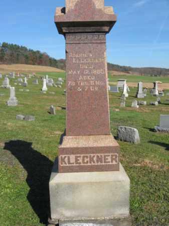 KLECKNER, ANDREW - Schuylkill County, Pennsylvania   ANDREW KLECKNER - Pennsylvania Gravestone Photos