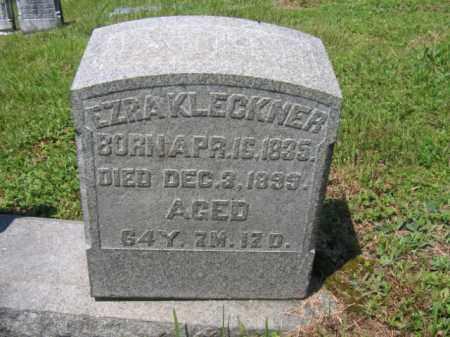 KLECKNER, EZRA - Schuylkill County, Pennsylvania | EZRA KLECKNER - Pennsylvania Gravestone Photos