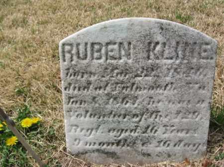 KLINE (CW), RUBEN (REUBEN) - Schuylkill County, Pennsylvania | RUBEN (REUBEN) KLINE (CW) - Pennsylvania Gravestone Photos