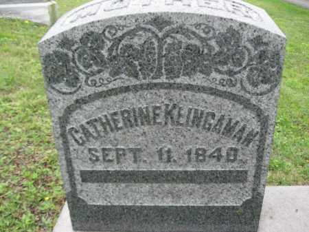 KLINGAMAN, CATHERINE - Schuylkill County, Pennsylvania | CATHERINE KLINGAMAN - Pennsylvania Gravestone Photos