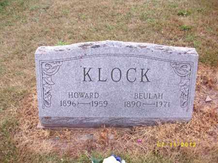KLOCK, HOWARD JACOB - Schuylkill County, Pennsylvania   HOWARD JACOB KLOCK - Pennsylvania Gravestone Photos