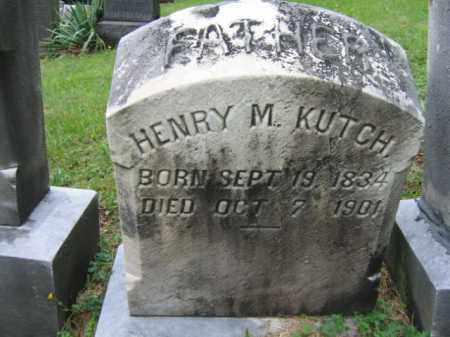 KUTCH, HENRY M. - Schuylkill County, Pennsylvania   HENRY M. KUTCH - Pennsylvania Gravestone Photos