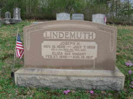LINDEMUTH  (CW), JOSEPH  H. - Schuylkill County, Pennsylvania | JOSEPH  H. LINDEMUTH  (CW) - Pennsylvania Gravestone Photos