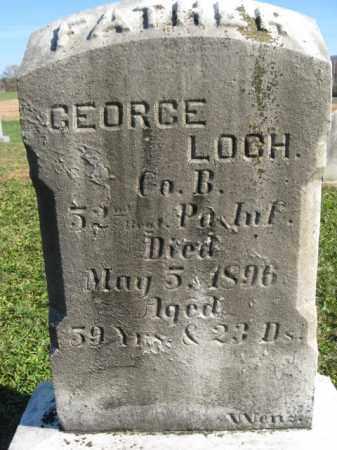 LOCH (LOCK) (CW), GEORGE - Schuylkill County, Pennsylvania   GEORGE LOCH (LOCK) (CW) - Pennsylvania Gravestone Photos