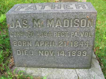 MADISON (CW), CORP.JAMES M. - Schuylkill County, Pennsylvania | CORP.JAMES M. MADISON (CW) - Pennsylvania Gravestone Photos