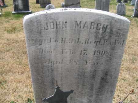 MARCH (CW), SERG.JOHN - Schuylkill County, Pennsylvania   SERG.JOHN MARCH (CW) - Pennsylvania Gravestone Photos