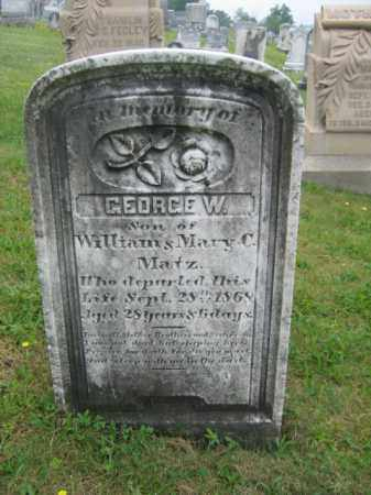 MATZ, GEORGE W. - Schuylkill County, Pennsylvania   GEORGE W. MATZ - Pennsylvania Gravestone Photos