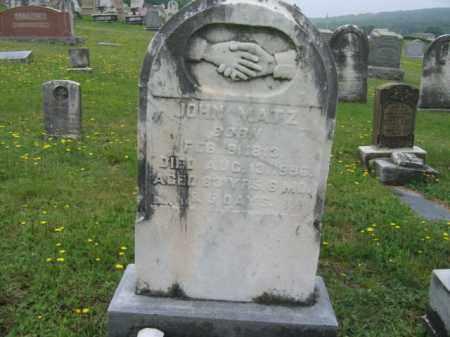 MATZ, JOHN - Schuylkill County, Pennsylvania | JOHN MATZ - Pennsylvania Gravestone Photos