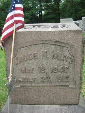 MATZ(CW), JACOB N. - Schuylkill County, Pennsylvania | JACOB N. MATZ(CW) - Pennsylvania Gravestone Photos