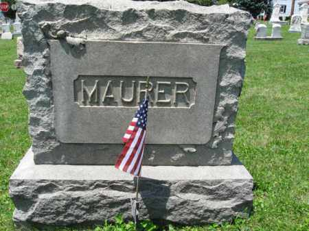 MAURER (CW), CHARLES - Schuylkill County, Pennsylvania | CHARLES MAURER (CW) - Pennsylvania Gravestone Photos