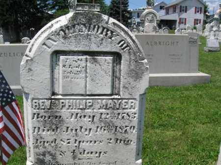 MAYER, REV.PHILIP - Schuylkill County, Pennsylvania | REV.PHILIP MAYER - Pennsylvania Gravestone Photos