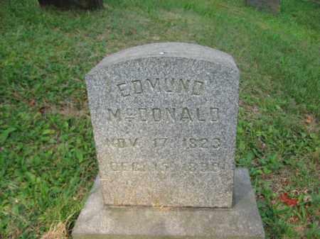 MCDONALD, EDMUND - Schuylkill County, Pennsylvania | EDMUND MCDONALD - Pennsylvania Gravestone Photos