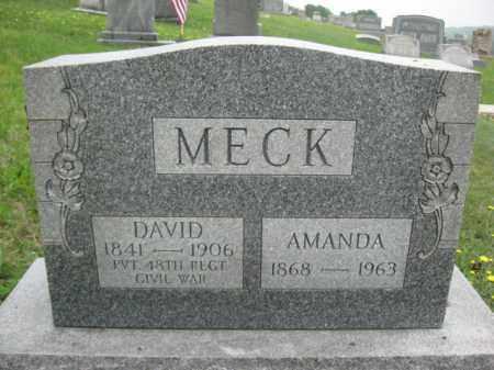 MECK (CW), DAVID - Schuylkill County, Pennsylvania   DAVID MECK (CW) - Pennsylvania Gravestone Photos