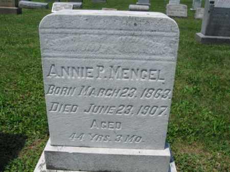 MENGEL, ANNIE P. - Schuylkill County, Pennsylvania   ANNIE P. MENGEL - Pennsylvania Gravestone Photos