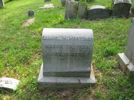 MORTIMORE, SAMUEL M. - Schuylkill County, Pennsylvania | SAMUEL M. MORTIMORE - Pennsylvania Gravestone Photos