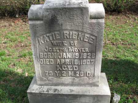 RIBKEE MOYER, KATIE - Schuylkill County, Pennsylvania | KATIE RIBKEE MOYER - Pennsylvania Gravestone Photos