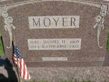 MOYER (WC), DANIEL H. - Schuylkill County, Pennsylvania   DANIEL H. MOYER (WC) - Pennsylvania Gravestone Photos