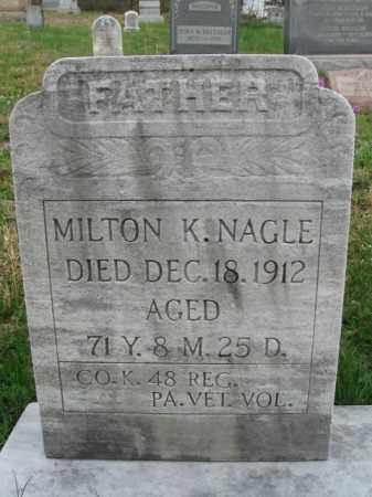 NAGLE (CW), MILTON K. - Schuylkill County, Pennsylvania | MILTON K. NAGLE (CW) - Pennsylvania Gravestone Photos