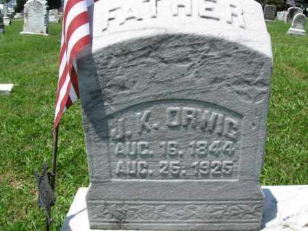 ORWIG (CW), JAMES K. - Schuylkill County, Pennsylvania | JAMES K. ORWIG (CW) - Pennsylvania Gravestone Photos
