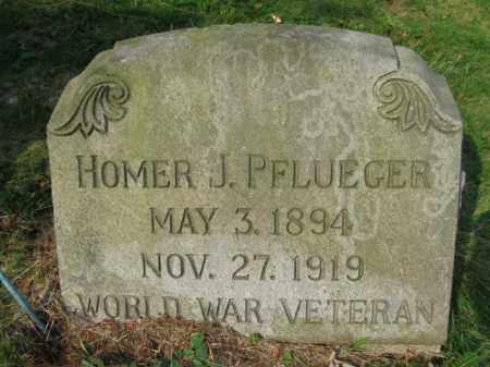 PFLUEGER (WW I), HOMER J. - Schuylkill County, Pennsylvania | HOMER J. PFLUEGER (WW I) - Pennsylvania Gravestone Photos