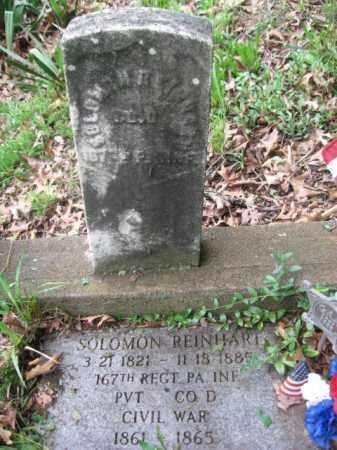 REINHART (CW), SOLOMON - Schuylkill County, Pennsylvania | SOLOMON REINHART (CW) - Pennsylvania Gravestone Photos