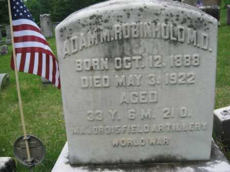ROBINHOLD  (WW I), MAJOR ADAM M. - Schuylkill County, Pennsylvania | MAJOR ADAM M. ROBINHOLD  (WW I) - Pennsylvania Gravestone Photos