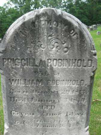 ROBINHOLD, PRISCILLA - Schuylkill County, Pennsylvania | PRISCILLA ROBINHOLD - Pennsylvania Gravestone Photos