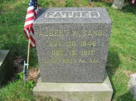 SANDS (CW), ALBERT W. - Schuylkill County, Pennsylvania   ALBERT W. SANDS (CW) - Pennsylvania Gravestone Photos